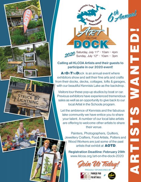 Art on the Dock – Call for Artists – 2020 – Date for Artists Extended to Apr 30 Date of Event moved to Aug 8 th and 9th